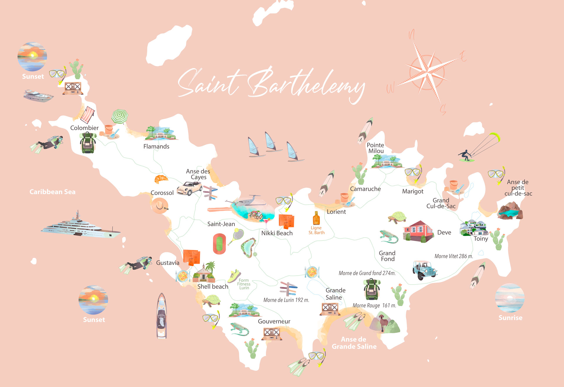 Interactive St. Barth Map